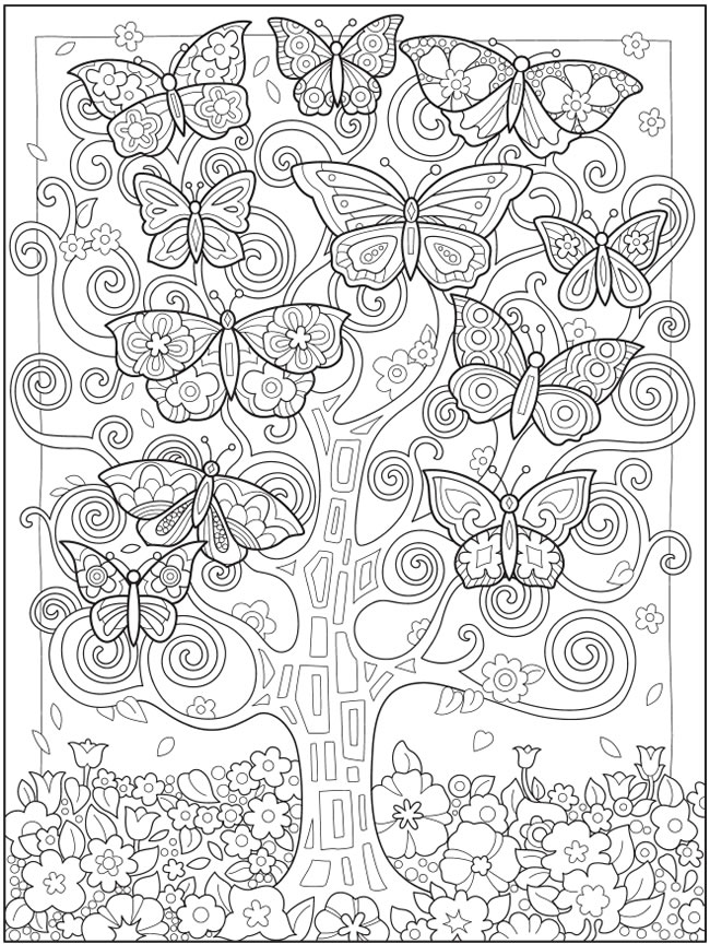 Welcome To Dover Publications In 2021 Butterfly Coloring Page Cool Coloring Pages Mandala Coloring Pages