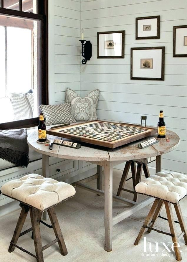 Dining Room Game Table Game Table And Chairs For Family Room Family Retreat Farmhouse Dining Room Living Room Table Farmhouse Dining Room Game Table And Chairs
