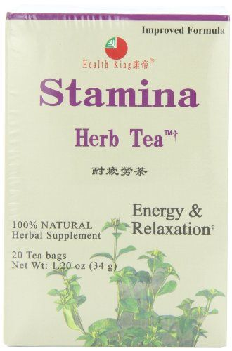 Health King  Stamina Herb Tea Teabags 20Count Box Pack of 6 *** Read more  at the image link. Note: It's an affiliate link to Amazon.