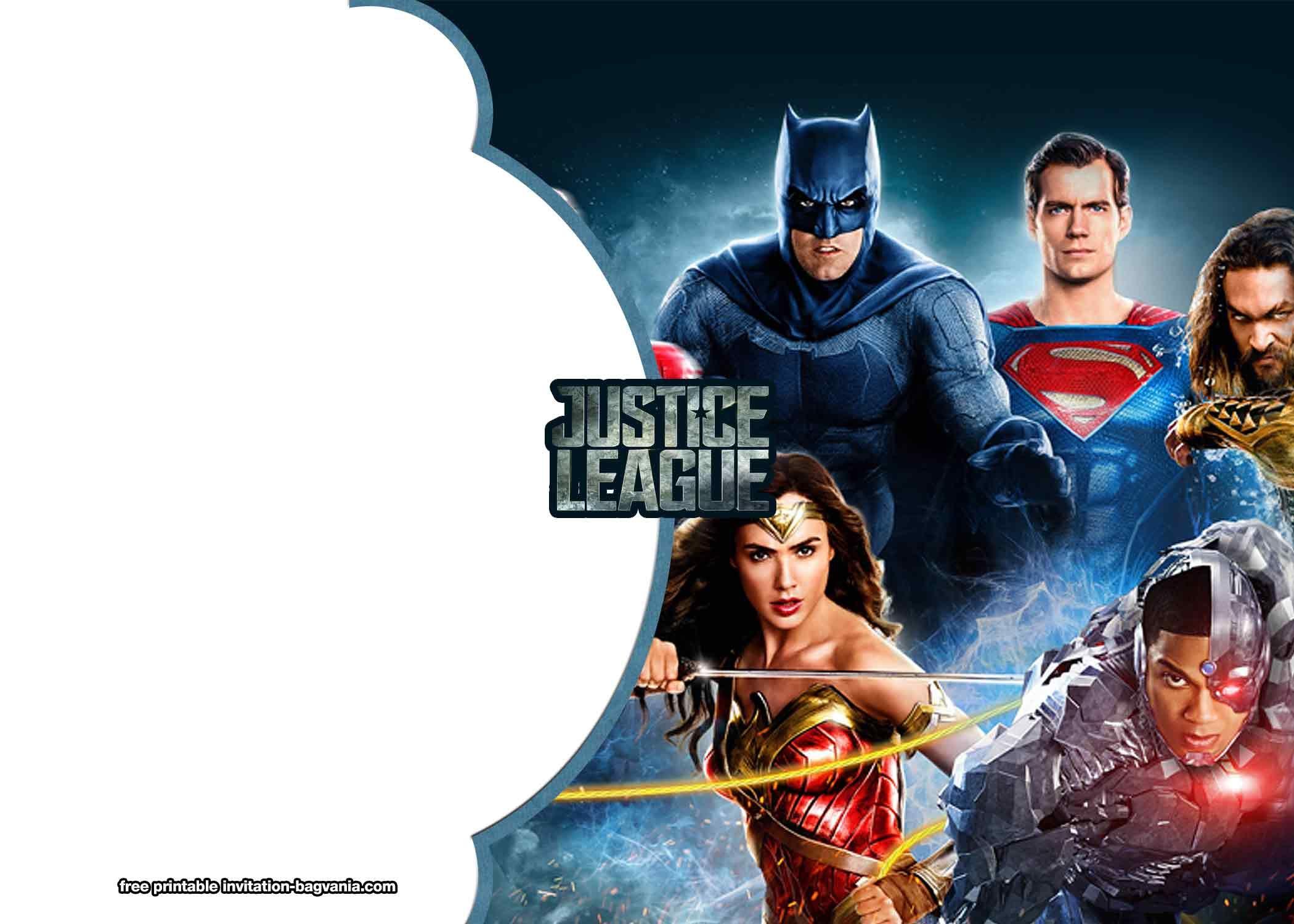 FREE Printable Justice League Invitation Templates  Justice