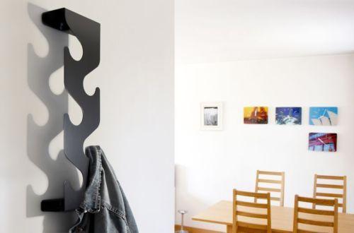 Design Wandgarderobe Mit Ablage Schwarz Oder Silber Garderobe