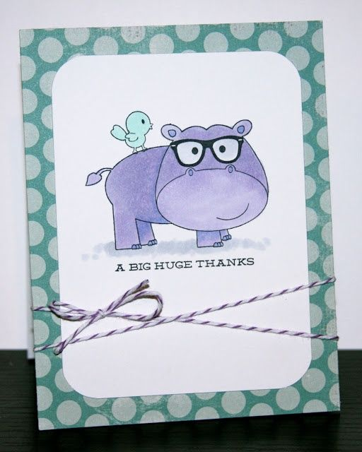 avery elle clear stamp set hipster-potamus | ... Heather Campbell using Hipster-Potamus stamp set for www.averyelle.com