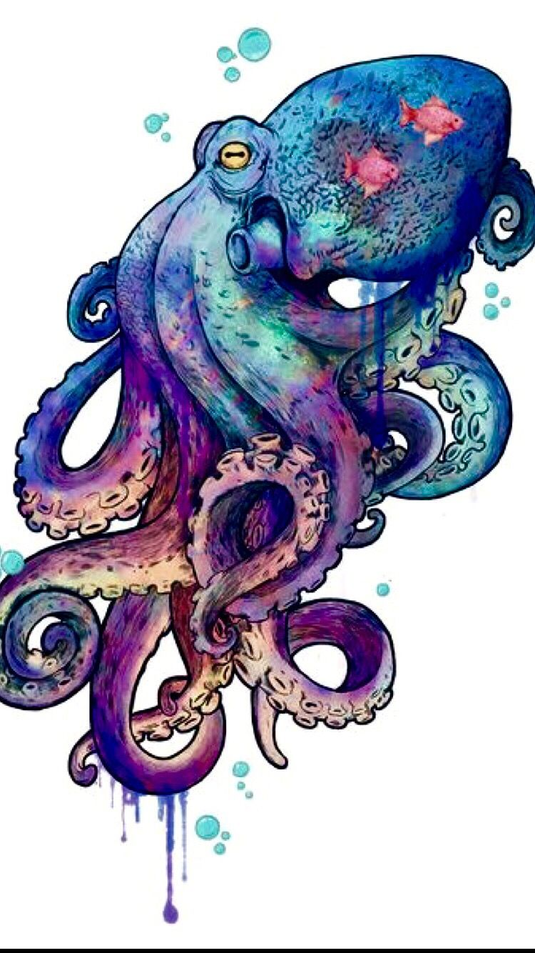 Photo of Colorful octopus tattoo coverup