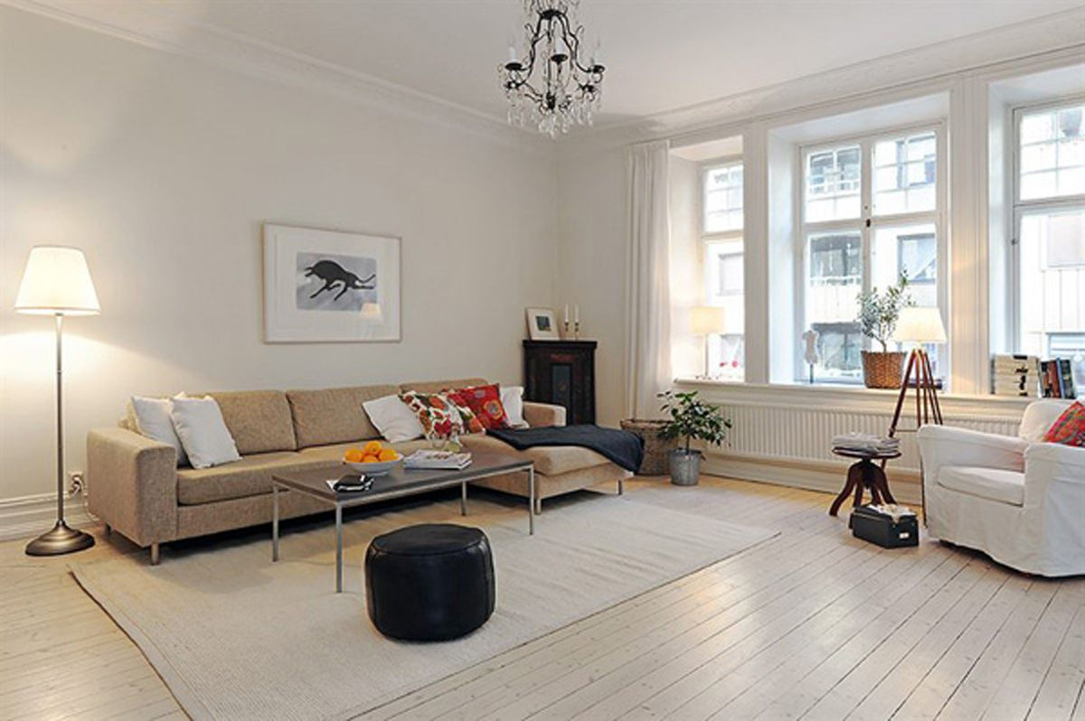 The General Plan With Large Windows On Three Sides And Bright Adorable Apt Living Room Decorating Ideas 2018