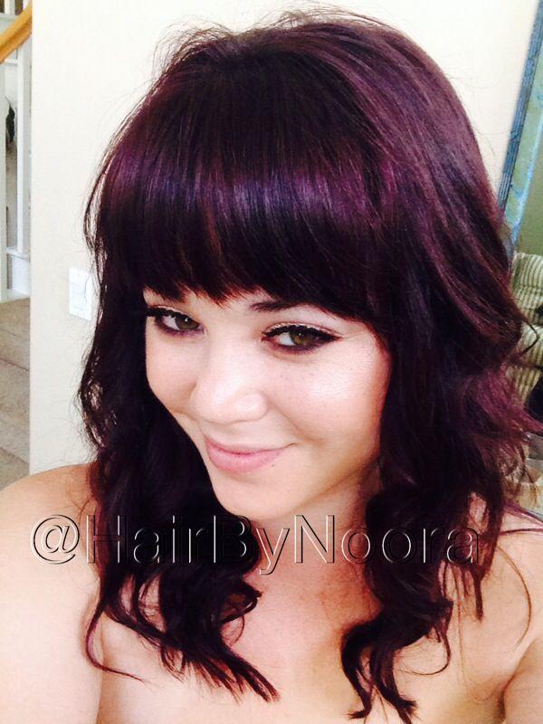 Violet Hair Eggplant Hair Color Gorgeous Deep Color Dark Purple Hair