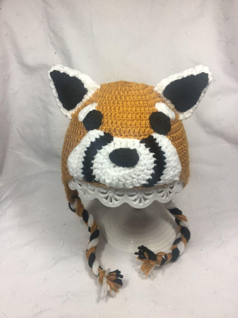 a9322d3023cb Bonnet péruvien panda roux pour bébé de la naissance à deux ans ...