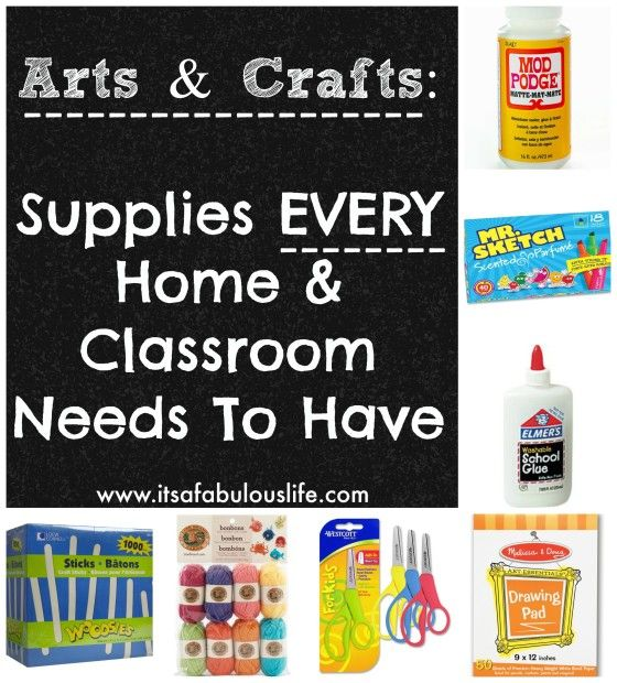 Craft Supplies Every House And Classroom Needs To Have