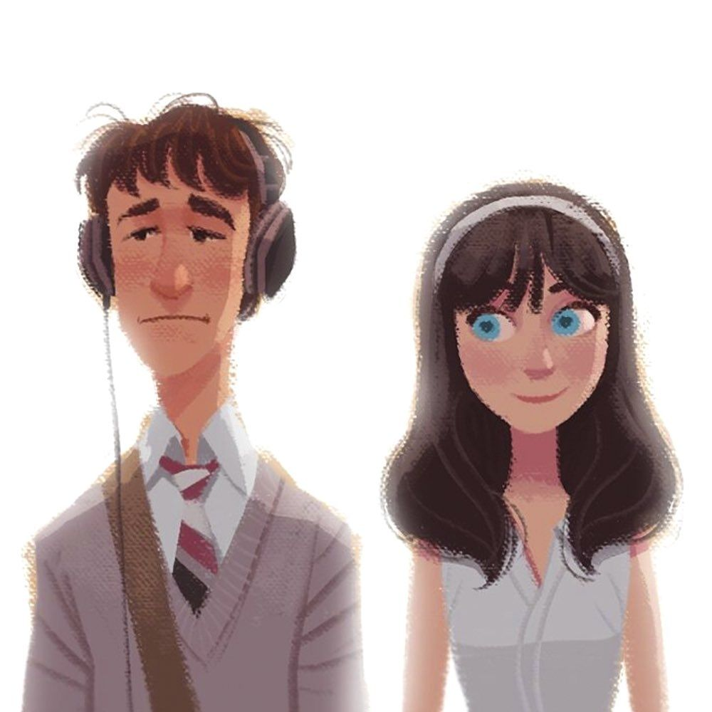 Gabriel Soares On Twitter 500 Days Of Summer Illustration Character Design Movie Art