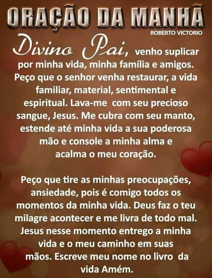 Oracao Da Manha De Djosena Lorena Em Oracao A Deus Pai Altissimo