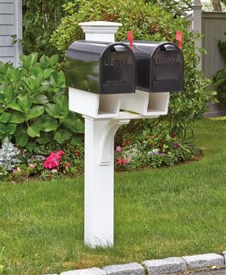 Double Twin Star Mail Post Wood Mailbox Posts Vinyl Mailbox Posts From Walpole Outdoors Double Mailbox Post Mailbox Posts Mailbox