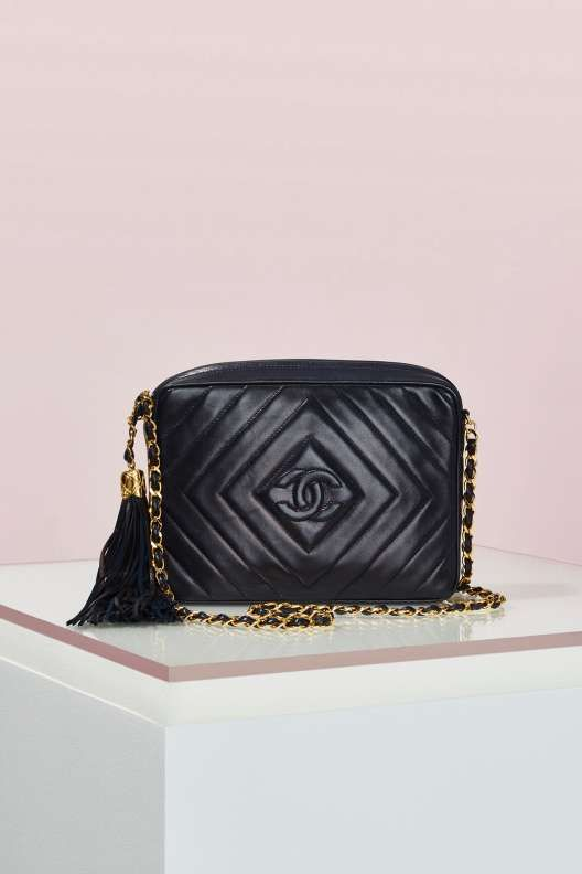 b196807a843c Vintage Chanel Quilted Fringe Leather Bag - Vintage Chanel Bags ...