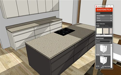Easysketch kitchen design software for sketchup