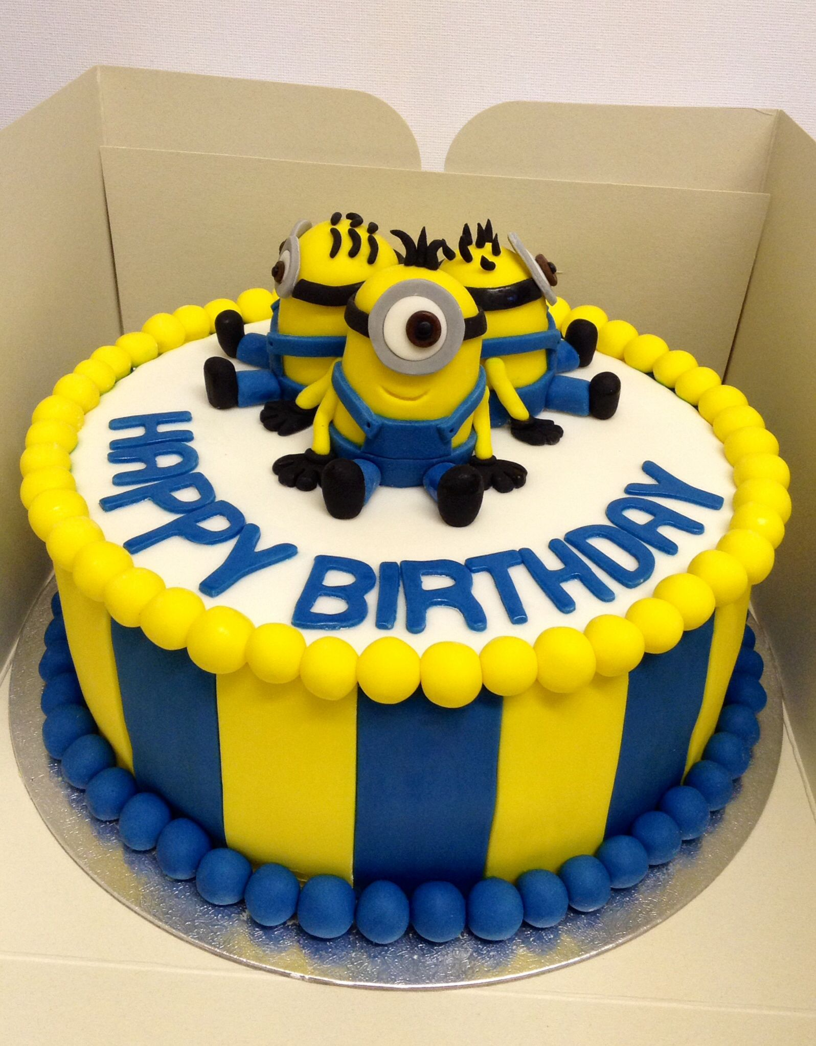 Minion birthday cake First Birthday Party Ideas Pinterest