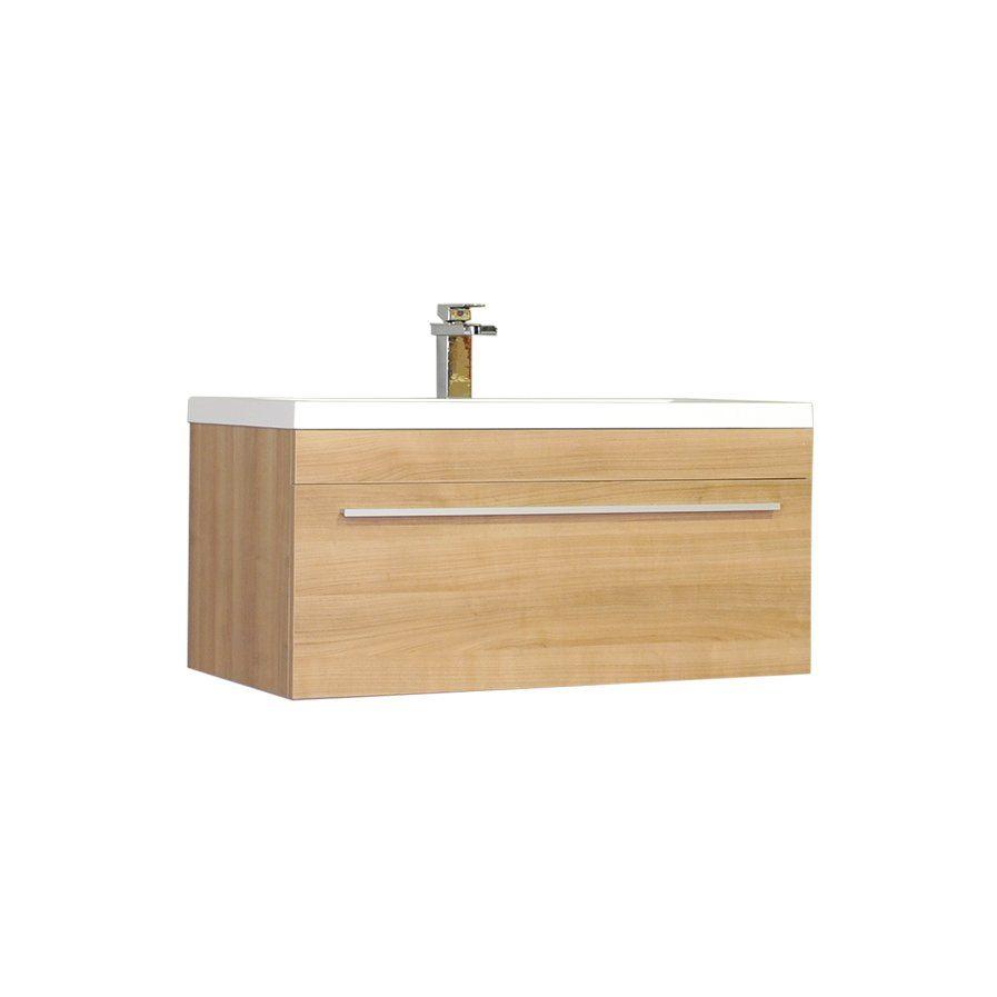 """Orren Ellis Mcpeak 30"""" Wall-Mounted Single Bathroom Vanity ..."""