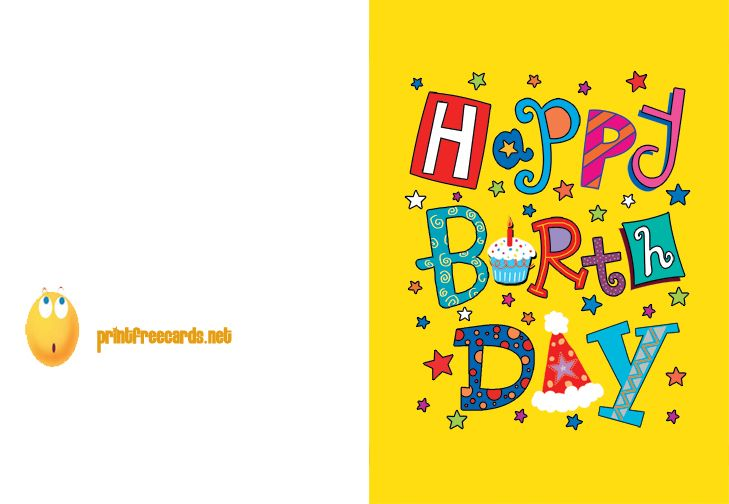 Free Birthday Cards To Print Printable Birthday Card Free Birthday Cards Fre Free Printable Birthday Cards Card Templates Printable Birthday Cards To Print