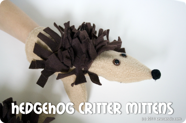 Hedgehog Critter Mittens Free Pattern + Tutorial