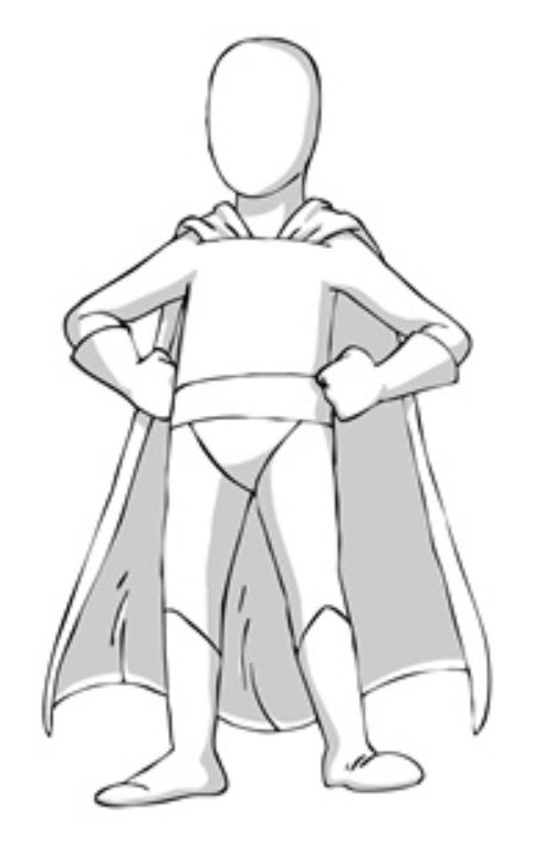 super hero template for designing your very own superflex