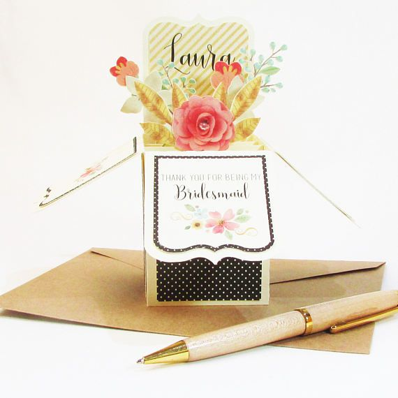 Wedding Attendants Gifts: Thank You For Being My Bridesmaid