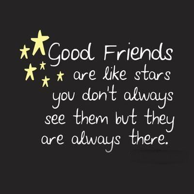 Image result for quotes about friends and stars