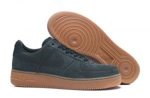 Mens Womens Nike Air Force 1 07 LV8 Suede Outdoor Green Gum Medium Brown  Ivory AA1117 64a0e220b