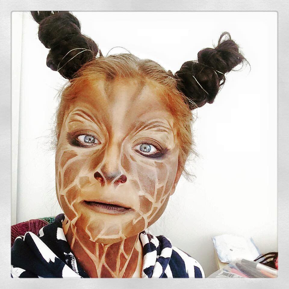giraffe makeup tutorial lion king pinterest kost m karneval schminken und karneval. Black Bedroom Furniture Sets. Home Design Ideas