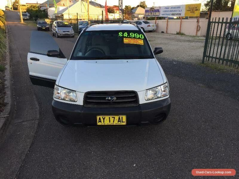 Car for Sale 2003 Subaru Forester 79V X White Automatic A