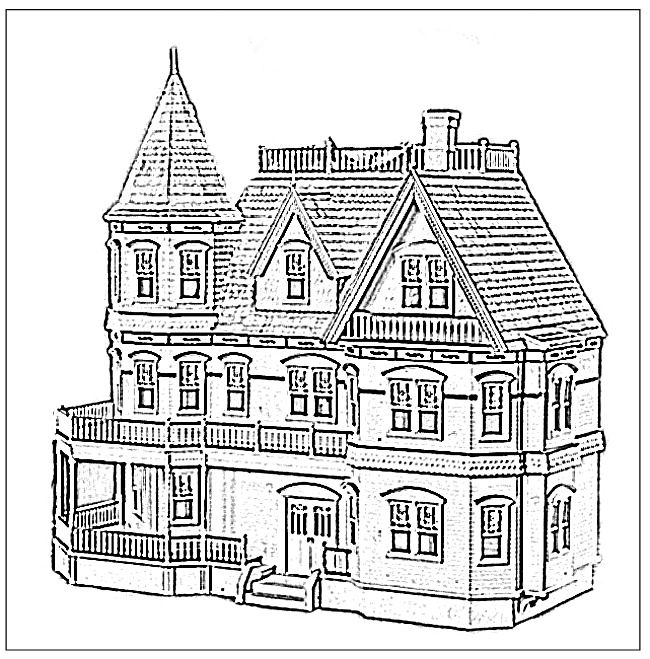 Houses To Color And Print For Adults Doll House Coloring Book
