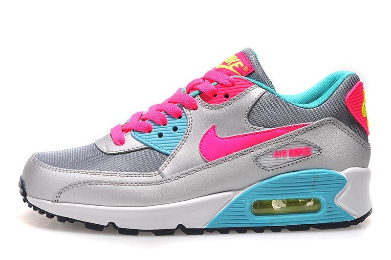 Sports Nike Air Max 90 Women's Shoes Blue Sky Online De La Rosa De Plata and