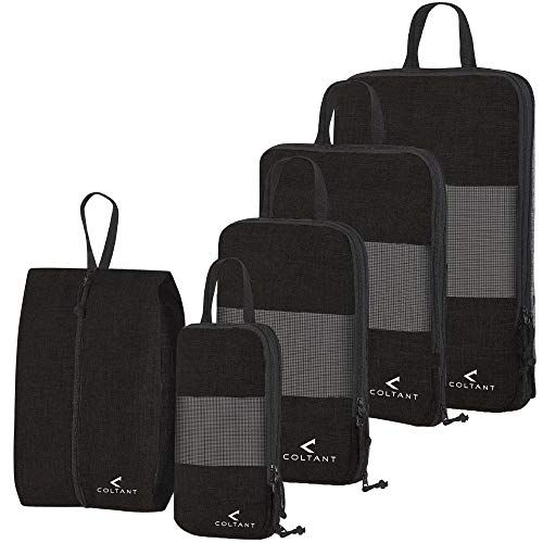 b1f23c4858b 5 Set Compression Packing Cubes Travel Luggage-Organizer Set Packs More in  Less Space