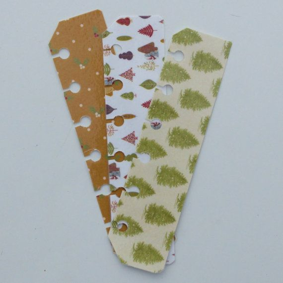 Christmas Pocket Filofax pagemarkers  set of 3 by JustKeepPinning, £1.20