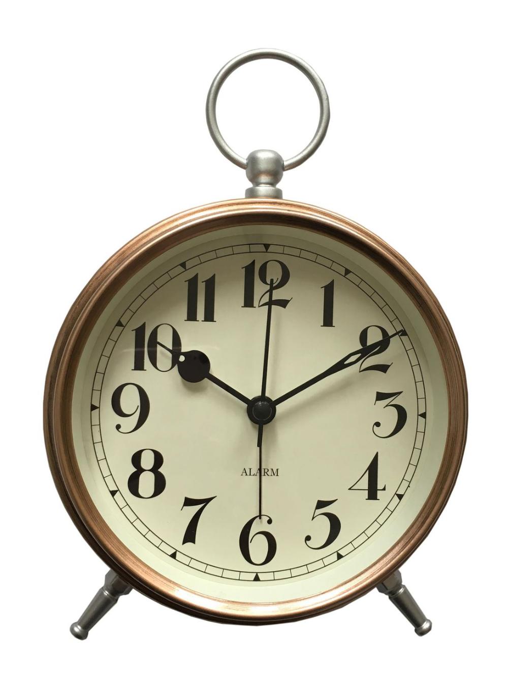 Hometrends Copper Pocketwatch Tabletop Alarm Clock Walmart