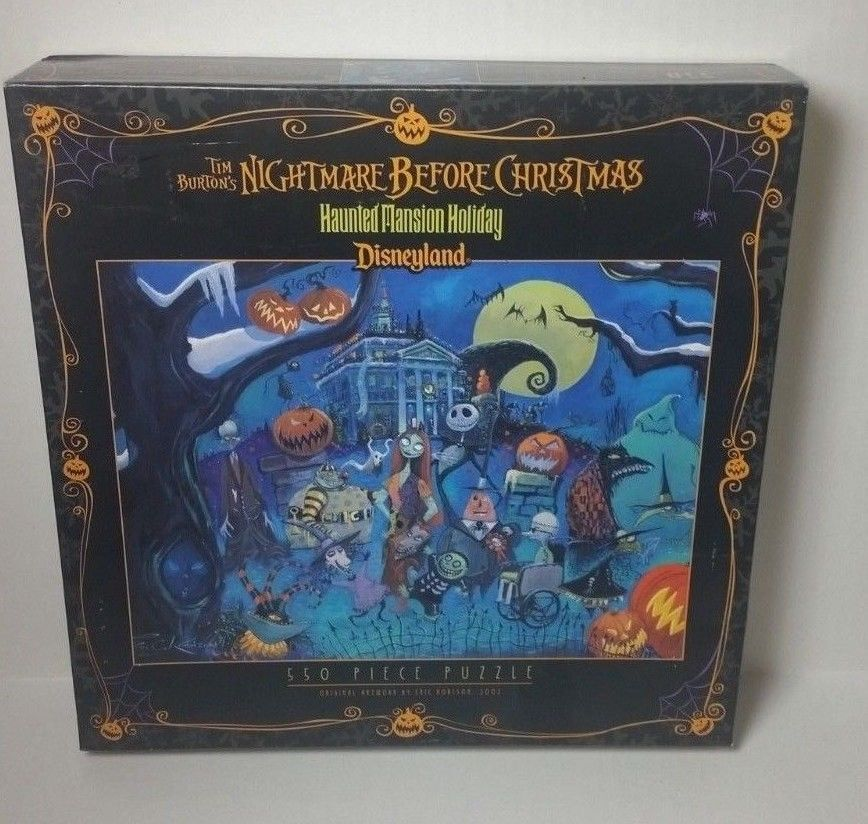haunted mansion holiday nightmare before christmas disneyland 550 piece puzzle haunted mansion nightmare before christmas