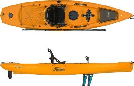 Hobie Mirage Compass Sit On Top Kayak Papaya 12 Ft