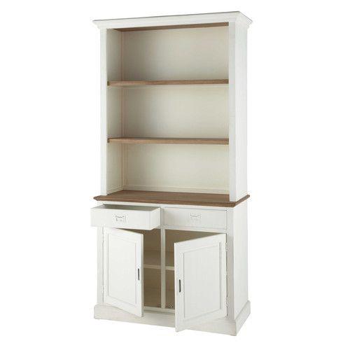 Biblioteca de madera de paulonia blanca An. 110 cm