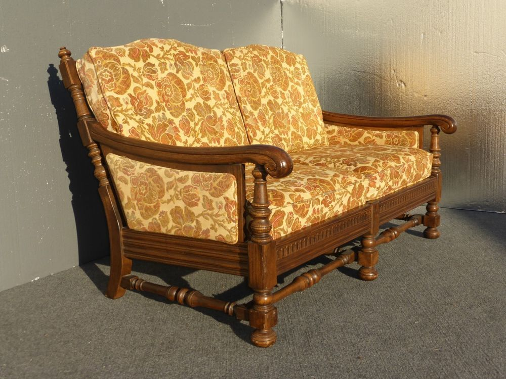 Prime Vintage Ethan Allen Spanish Revival Settee Mid Century Gmtry Best Dining Table And Chair Ideas Images Gmtryco