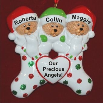 Our 3 Grandchildren Personalized Family Christmas Ornament