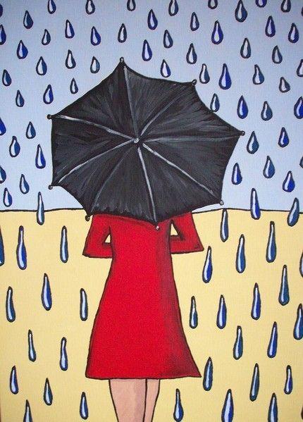 PRINT Umbrella Girl