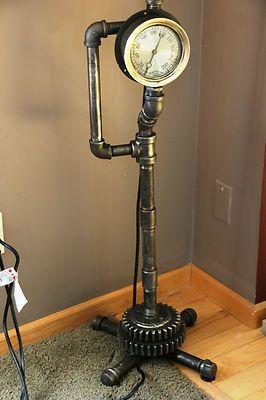 Plumbing Steam Gauge Floor Lamp \