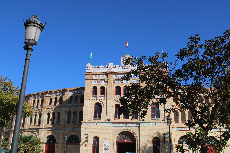 entrada principal a la Real Plaza de Toros de El Puerto de Santa María