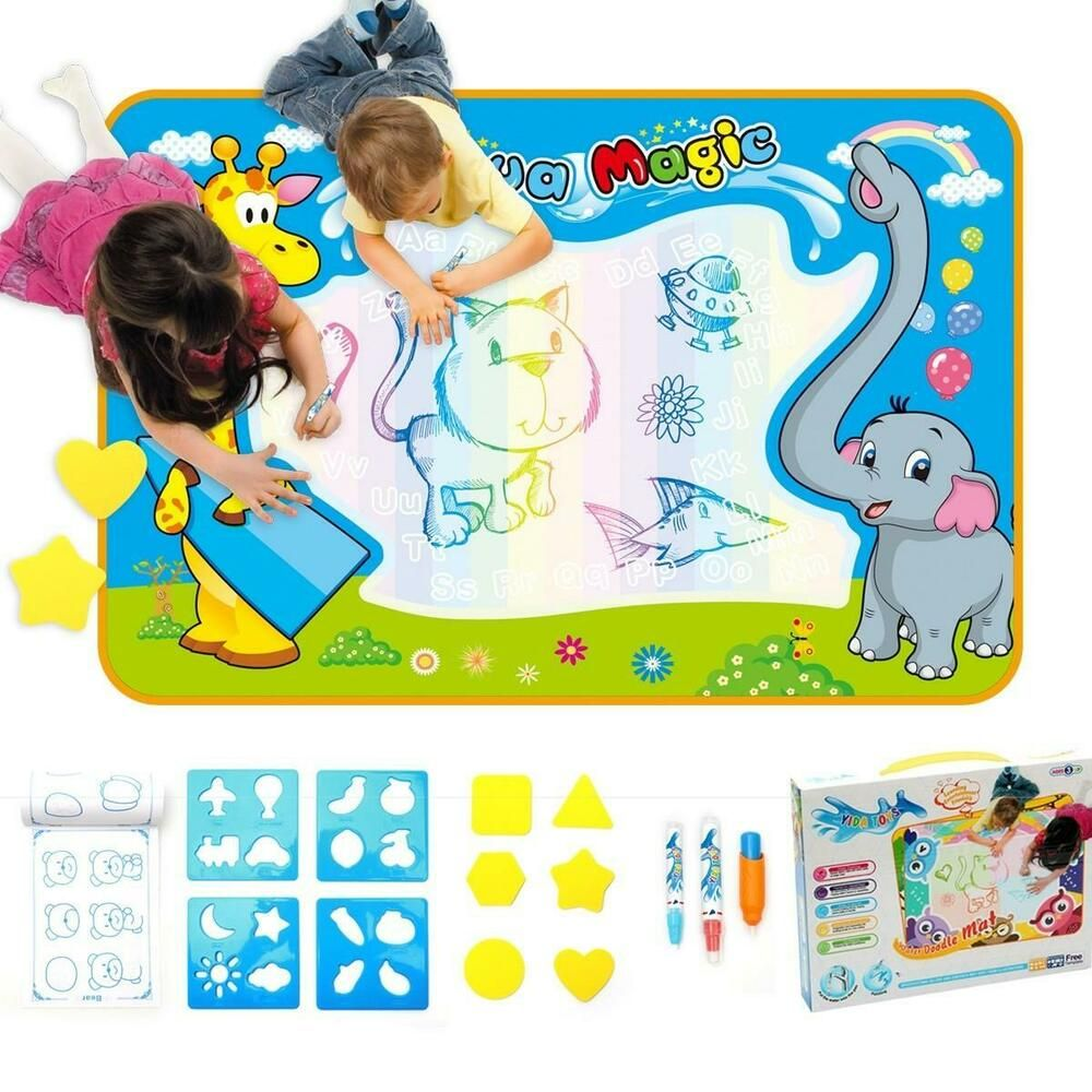Details About Childrens Aqua Magic Doodle Mat Kids Water Painting Toy Drawing Scribble Art New Scribble Art Kids Doodles Free Coloring