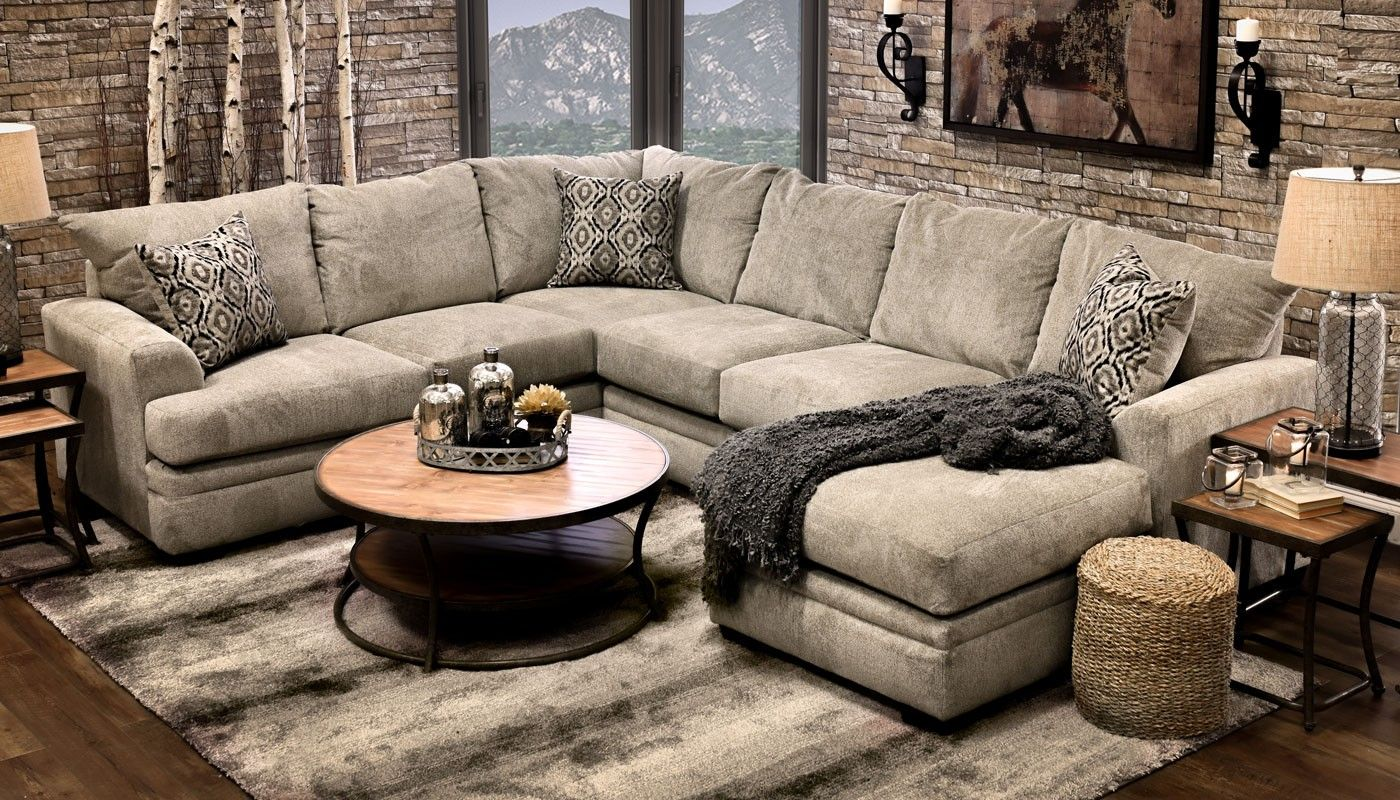 Jillian Platinum Sectional Living Room Furniture Mattress Sets