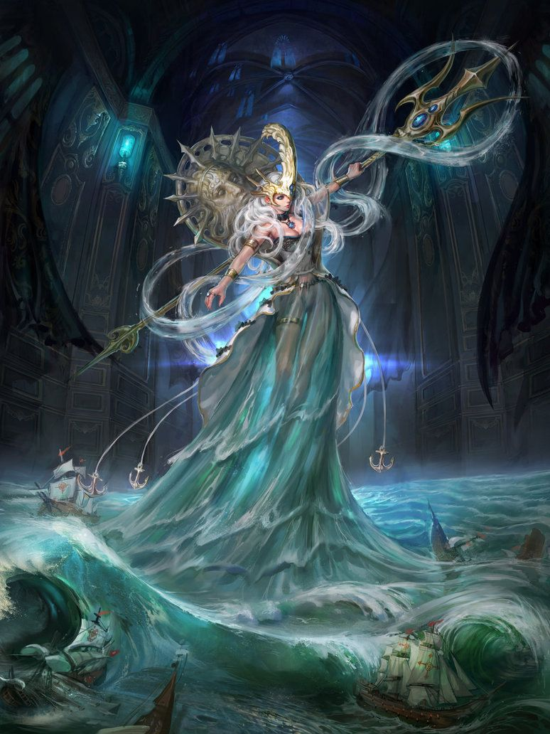 breathtaking and fantasy art u2014 poseidon by inshoo1