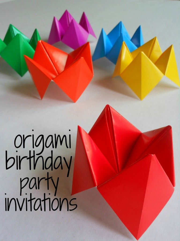 Birthday Party Invitations Origami for kids | Party Ideas ...