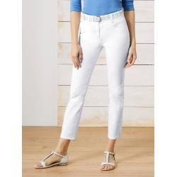 Photo of Walbusch Jeans da donna Pantaloni Regular Fit Cintura elastica in tinta unita bianca WalbuschWalbusch