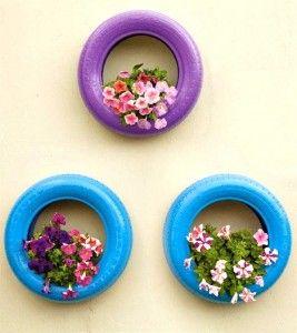 recycler vos pneus usag s en jardini res ou comment tre un pro du jardin idees. Black Bedroom Furniture Sets. Home Design Ideas