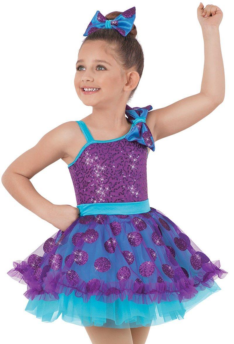 Weissman™ | Polka Dot Kiss Ruffle Tap Dress. This year spring recital costume!