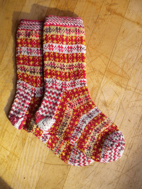 Ravelry: Fair Isle Stash Socks pattern by Susi Ferguson free | Sock ...