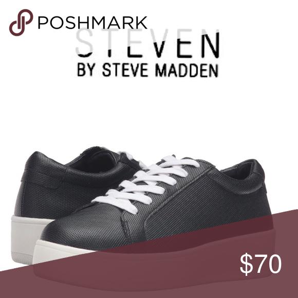 a327d0ff6e6 NWT Steven by Steve Madden Haris Platform Sneakers ➖NWT ➖BRAND   Steven by Steve  Madden ➖SIZE  9.5 ➖STYLE  Haris Fashion Slip On Sneaker in Black Nubuck ...