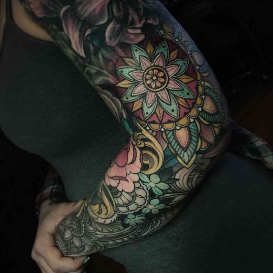 1 2 sleeve tattoo mandala bracelet images for tatouage for 1 2 sleeve tattoo