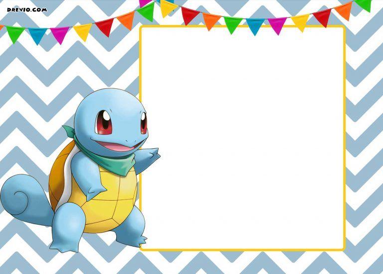 Free Printable Pokemon Invitation Templates Pokemon Invitations Birthday Invitations Kids Pokemon Birthday